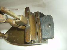Antik Messing Bügeleisen/Iron Plätteisen 18 Jhd Bolzen Einsatz Fischland vintage