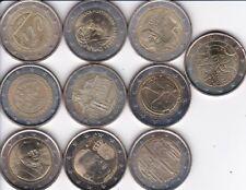 2 euros commemoratives 2010 UNC: les 10 pièces