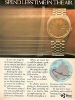 1983 Original Advertising 'American Thai Airways By Watch Omega IN The Air