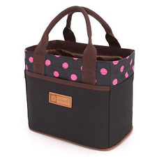 Canvas Bento Lunch Bag for Picnic School Office Tote Lunch Bag with Rope Belt