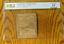 PA-155 APRIl 3, 1772 18p PENNSYLVANIA COLONIAL CURRENCY NOTE    BCS/612-185
