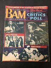 Vtg BAM Rock Magazine Newspaper 1991 Jane's Addiction Public Enemy Neil Young