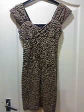 ** REDUCED ** STUNNING MINK COLOURED MINI DRESS, SIZE 10