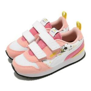 Puma PEANUTS R78 V Inf Pink White Strap Toddler Infant Casual Shoes 375744-02