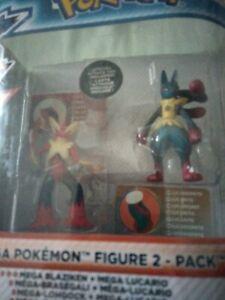 TOMY Pokémon Mega Blaziken & Mega Lucario XY