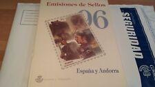 ESPAÑA Y ANDORRA 1996**  LIBRO  COMPLETO OFERTA ÚNICA y ESPECIAL .