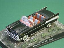 33 CHEVROLET BELAIR James Bond corre dietro il dottor no 007 1:43 MODELLO DI AUTO DIORAMA
