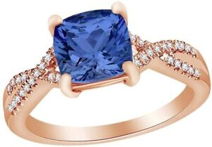Marquise Simulated Blue-sapphire W/ Simulated Diamond Infinity Shank Ring Silver