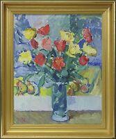 IMPRESSIONIST - PER SONNE 1906–1988 »BLUMENSTILLLEBEN  MIT TULPEN« 49 x 41 cm