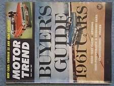 1961 JULY MOTOR TREND MAGAZINE VOL 13 NO 7 SUPERCHARGED PONTIAC LE MANS