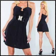 Feines schwarzes Kleidchen Strass-Schlange dünner feiner Stoff locker sitzend
