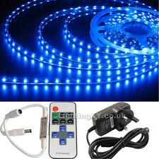 FULL KIT Quality 5M 300 SMD LED Strip Light +Power Supply +REMOTE Flasher Dimmer