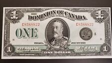 Bank of Canada 1923 Dc-25o Campbell-Clark Black Seal Group 4 E in Cunc+