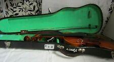 More details for vintage cased violin, bow & shoulder rest by lark for restoration free uk post