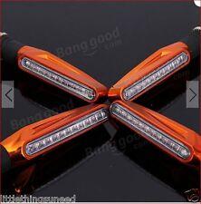 MOTO, x 4 , naranja, 9 , LED Stick, INTERMITENTES, cortar, Trike, STREETFIGHTER,