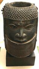Benin Bronze Oba Bust Sculpture Albright-Knox Art Gallery Replica 1960s HTF