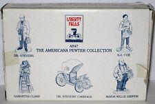 5 Pewter Figures Ah47 Mib 1994 Liberty Falls Dr Stevens Carriage Cox Clark Mayor
