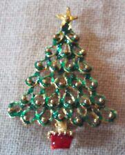 Golden and Enamel Christmas Tree Pin