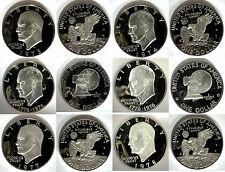 1973 - 1978 S Clad Proof Ike Eisenhower Dollar Collection 6 Coins US Mint $1 Lot