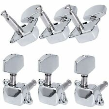 6Pcs Chrome Acoustic Guitar String Semiclosed Tuning Peg Machine Heads Tuner 3x3