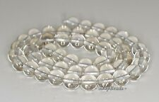 8MM  ROCK CRYSTAL GEMSTONE GRADE AA ROUND LOOSE BEADS 7.5""