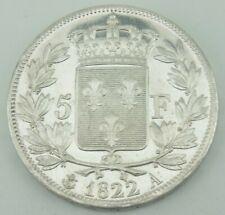 5 Francs 1822 A Paris LOUIS XVIII.  ROI DE FRANCE Frankreich Silber vz ║ M523