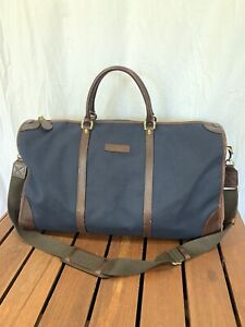 DOONEY and BOURKE Authentic Blue Canvas Brown Leather Gym/Duffel/Travel Bag
