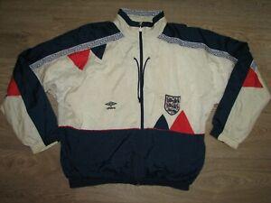 RARE ENGLAND 1990-92 UMBRO SHELL JACKET SIZE XL