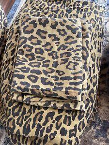 Vintage Ralph Lauren Aragon Leopard Print Queen Flat Sheet set