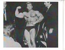 Joe + Ben Weider with Larry Scott at 1966 Olympia Show Muscle Photo B&W