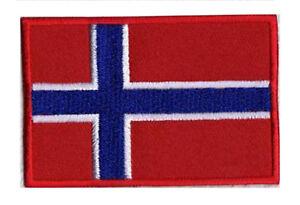 Patch Abzeichen Flagge Norwegen Norge 70 X 45 MM Bestickt