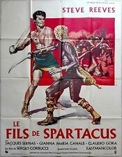 1963 SLAVE Il Figlio di Spartacus Steve Reeves French 47x63 movie poster