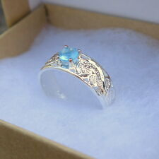 Blue Cz Toe Ring Tr1123 Iw Hawaiian Sterling Silver Scrolling See Through Round