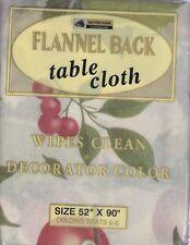 "NEW SUMMER FRUITS VINYL FLANNEL BACK TABLECLOTH (52""X90"" OBLONG)"