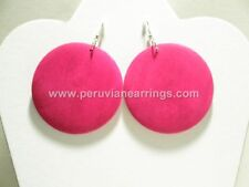 Wholesale of 12 pairs Assorted colors wood earrings Round  # 431