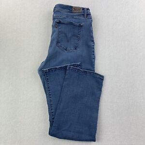 Levi's 512 Women's 32x29 Perfectly Slimming Boot Cut Blue Jeans Size 14 S GUC