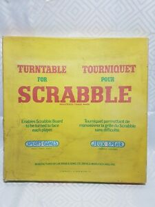 Vintage 1973 Spears Games Turntable For Scrabble in Original Box -