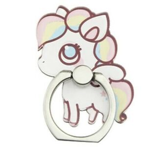 360°Acrylic Unicorn Finger Ring Mobile Smartphone Holder Stand iPhone Samsung