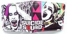 Suicide Squad Joker Harley Wallet 3 credit card slots 2 bill sections window