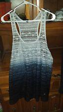 Women's Plus LANE BRYANT Gray Black Ombre Lace tank top size 22/24