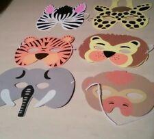 Children's Kids 6 morbida schiuma Personaggio Animale Costume Faccia Occhi Party maschere
