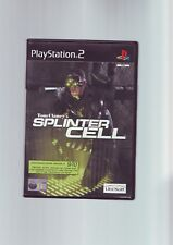 TOM CLANCY'S SPLINTER CELL - SONY PLAYSTATION PS2 GAME - ORIGINAL & COMPLETE VGC