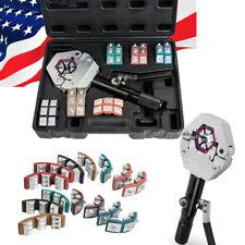 【USA】Pro Hydraulic Hose Crimper Crimping Tool Kit Conditioner Automotive Repair