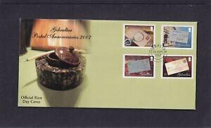 Gibraltar 2007 Postal Anniversaries stamp on stamp  FDC