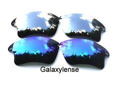 Galaxy Replacement Lenses For Oakley Fast Jacket XL Blue&Titanium Polarize 2Pair