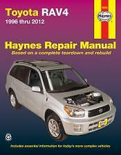Toyota RAV4 Haynes Repair Manual for 1996 thru 2012 # 92082