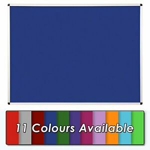 Wonderwall Felt Notice board Pinboard - Aluminium Frame - 120 x 90cm -11 colours