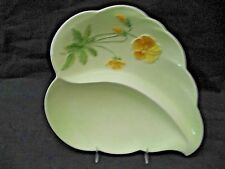 ROYAL WINTON GRIMWADES Pastel / Moulded Relief YELLOW PANSYS 2 SECTION DISH NICE