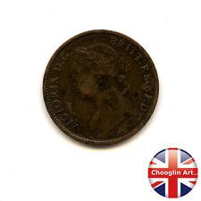 A 1884 British Bronze VICTORIA FARTHING Coin                    (Ref:1884_380/1)