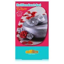 Dekoback Decocino Rollfondant-Set Silber 250g - Kreativ backen (1er Pack)